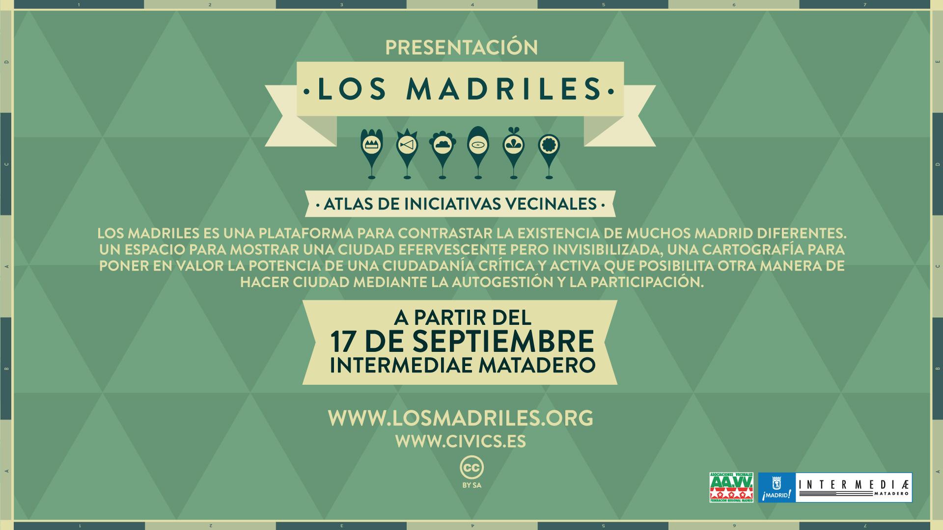 Cartel de la presentación de Los Madriles